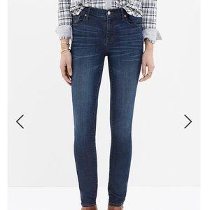 MADEWELL High Riser Skinny Like New Dark Wash Jean